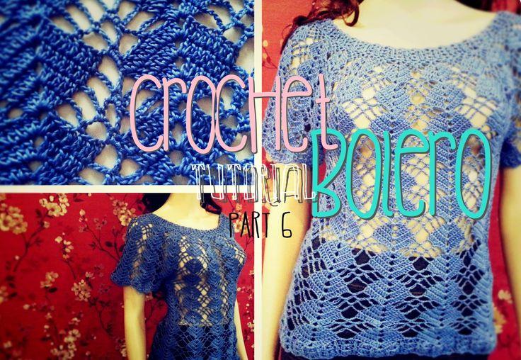 Crochet Bolero Tutorial Part 6 of 10