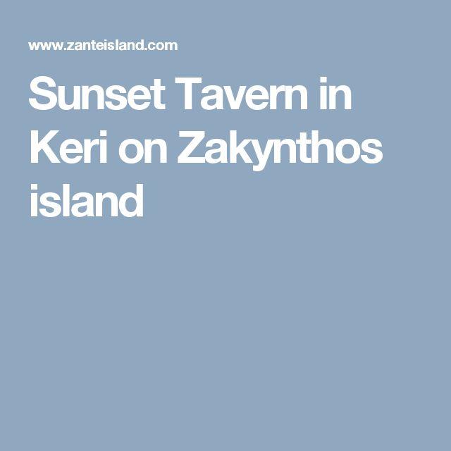 Sunset Tavern in Keri on Zakynthos island