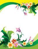 Abstract flower background — Stock vektor