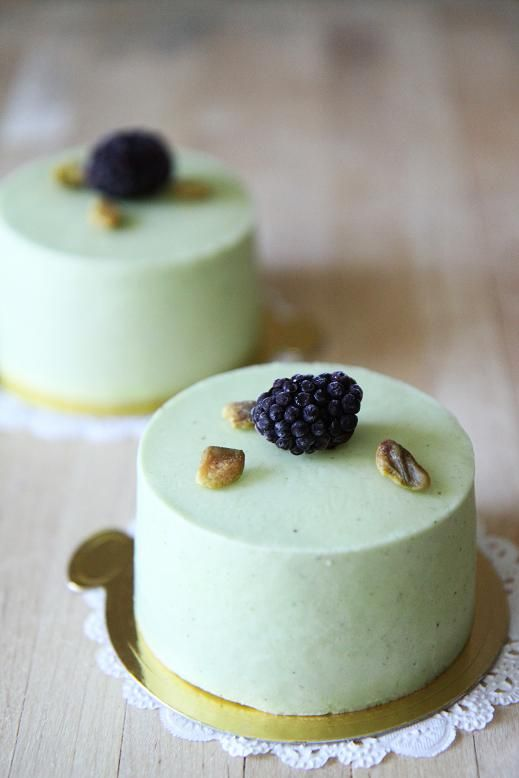 Gourmet Baking: Raspberry pistachio mousse cake More