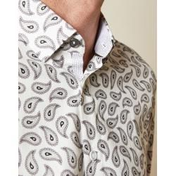 Tall Hemd Aus Baumwolle Mit Paisley-print Ted BakerTed Baker