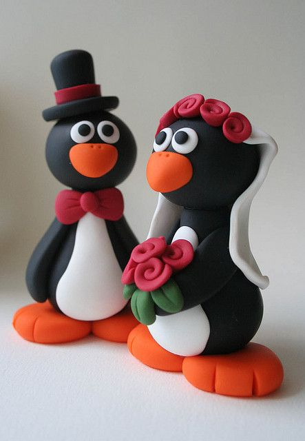 penguin wedding cake topper penguin wedding cake topper flickr photo 18187