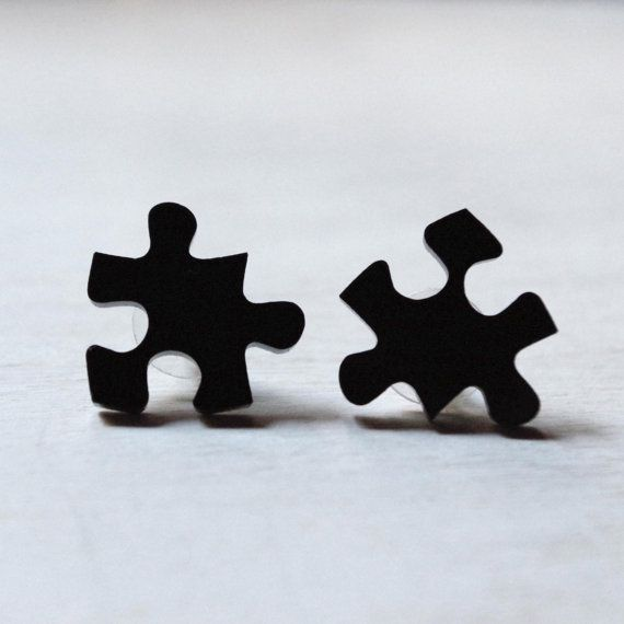 Orecchini puzzle da personalizzare con le di DARQCREATIONS su Etsy