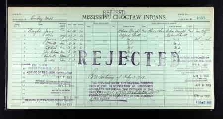 Ezekiel Wright discovered in Oklahoma and Indian Territory, Dawes Census Cards for Five Civilized Tribes, 1898-1914