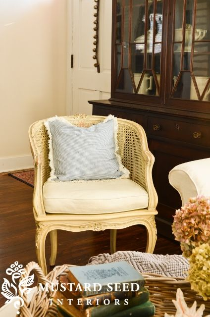 I love French cane chairs!!