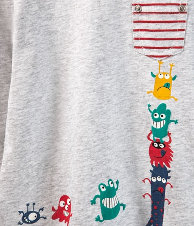 maglietta a righe con taschino stampa animaletti - Magliette - Neonato - Bambini - ZARA Italia