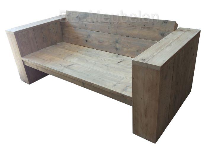 NIEUW! Lounge Bank 'Niek' Stoere steigerhouten loungebank.lxdxh 160x86x63cm  U kunt uiteraard zelf uitkiezen welke lak of kleur u op uw bank wilt hebben.   Meer info: http://www.bbmeubelen.nl/a-30335406/banken/niek/