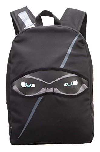 """ZIPIT Ninja Backpack (ZNINJ-BK). Cool design - playful and fun with a ninja-inspired look that's sleek and mysteriously cool when you're on the go!. Adjustable - use the adjustable straps to get a snug fit essential to a healthy back. Extra padding at the top of the shoulder area of this children's backpack reduces fatigue and adds comfort. Versatile & laptop ready - equipped with 1 main compartment big enough to store a 14"""" laptop. 1 upper compartment keeps all your essentials organized…"""
