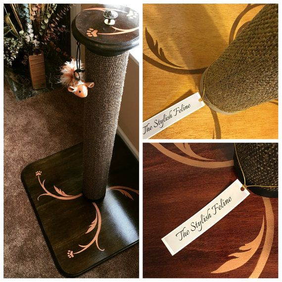 "Deluxe 36"" Tall cat scratch post"