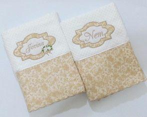 88321562e3 Toalhas de banho personalizadas casal. Enxoval Casamento