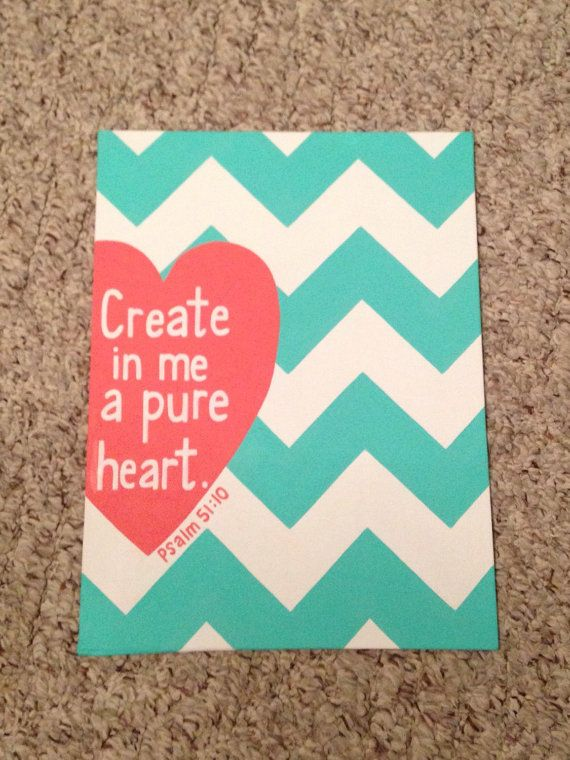 Psalm 51:10 scripture canvas by SweetCarolineBH on Etsy