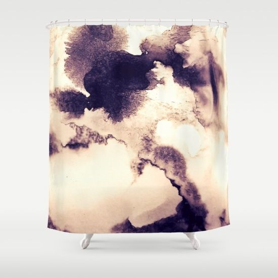 Coffee Cloudscape Shower Curtain