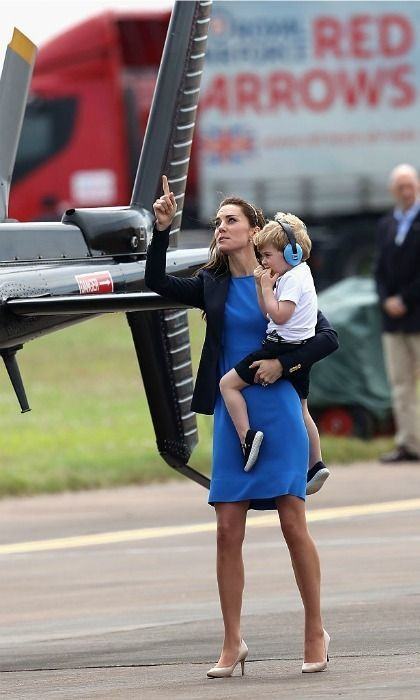 Kate is encouraging Prince Georges love of motorcycles, planes, and helicopters.