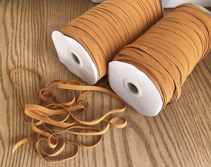 1 4 Elastic Cord For Masks Braided Stretch Band Strap Etsy In 2020 Elastic Rope Elastic Diy Clothes Making