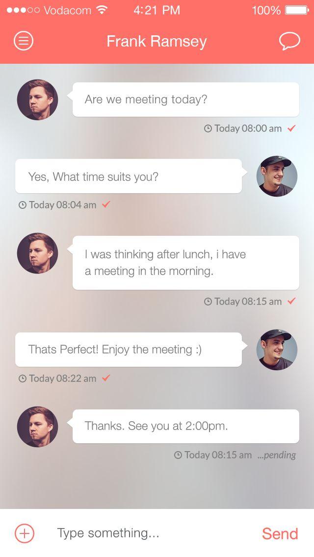 ChatApp UI iOS7 by Daniel Klopper