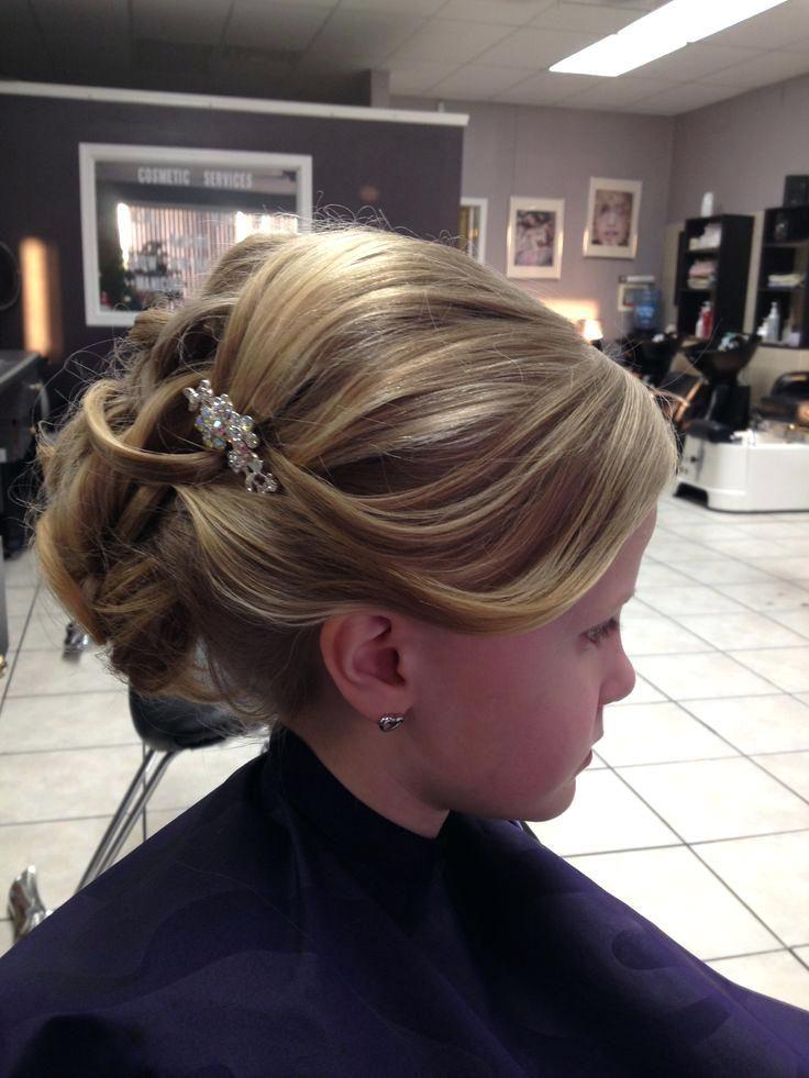 Pin By Kacie Blakney On Holy Communion First Communion Hairstyles Communion Hairstyles Hairstyle