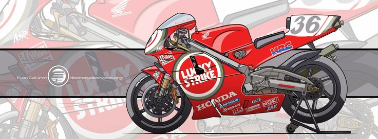 Motorcycle Art - Honda NSR 500 1999 by Evan DeCiren
