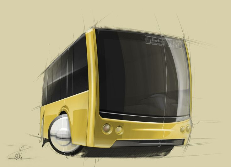 Bus sketch Illustrated