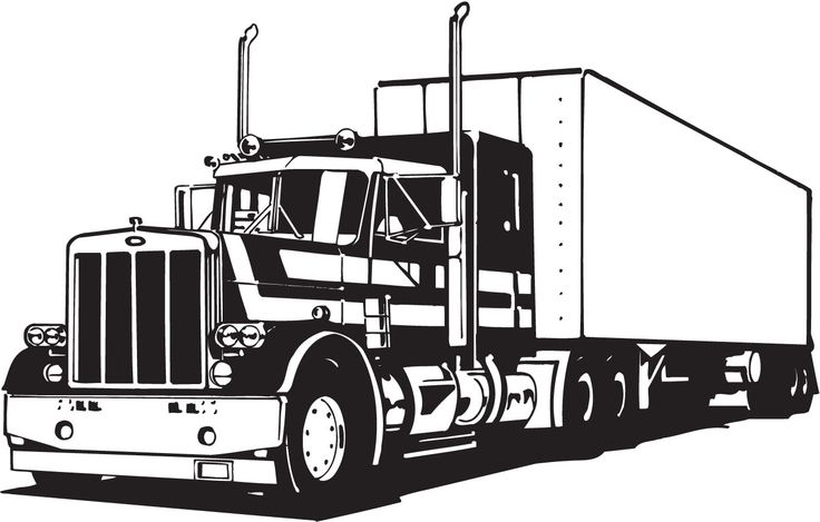 Truck Lineart Vectorfree Download Free Vector Cdr Eps Ai ...