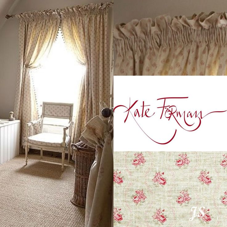 """Pencil Pleat 3"""" curtain tape with a 3-4"""" frill above. Curtain fabric: Agatha - Kate Forman Inspiration by Joanne Sandford - Images supplied by Kate Forman Designs"""