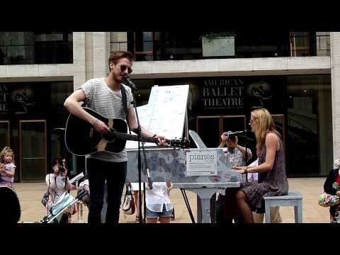 He is magnificent.....Arthur Darvill, Joanna Christie performing Falling Slowly for Sing For Hope at Lincoln Center - YouTube