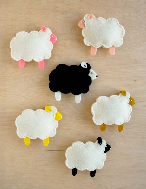 Moutons en feutrine purl Soho