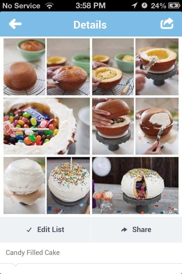 Fun birthday surprise cake!