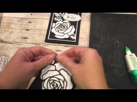 How to create this Stained Glass Easter Rose Technique featuring Stampin Up Rose Wonder Die - YouTube