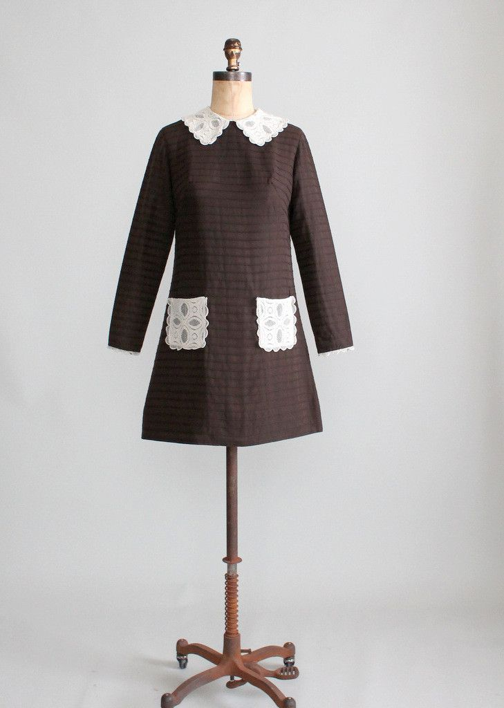 Vintage 1960s MOD Schoolgirl Mini Dress  Us shipping Vintage and ...