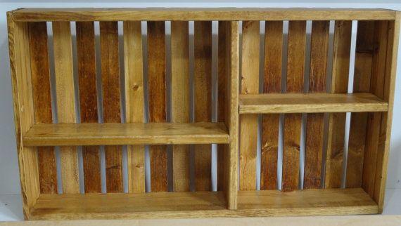Decorative Wooden Wall Hanging CrateGolden Oak by DREAMATHEME, $48.00