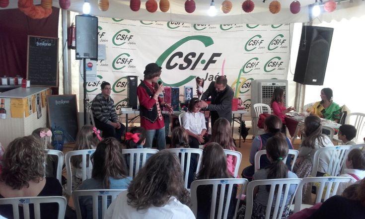 CSIF celebra su tradicional fiesta infantil en la feria que cumple su octavo aniversario
