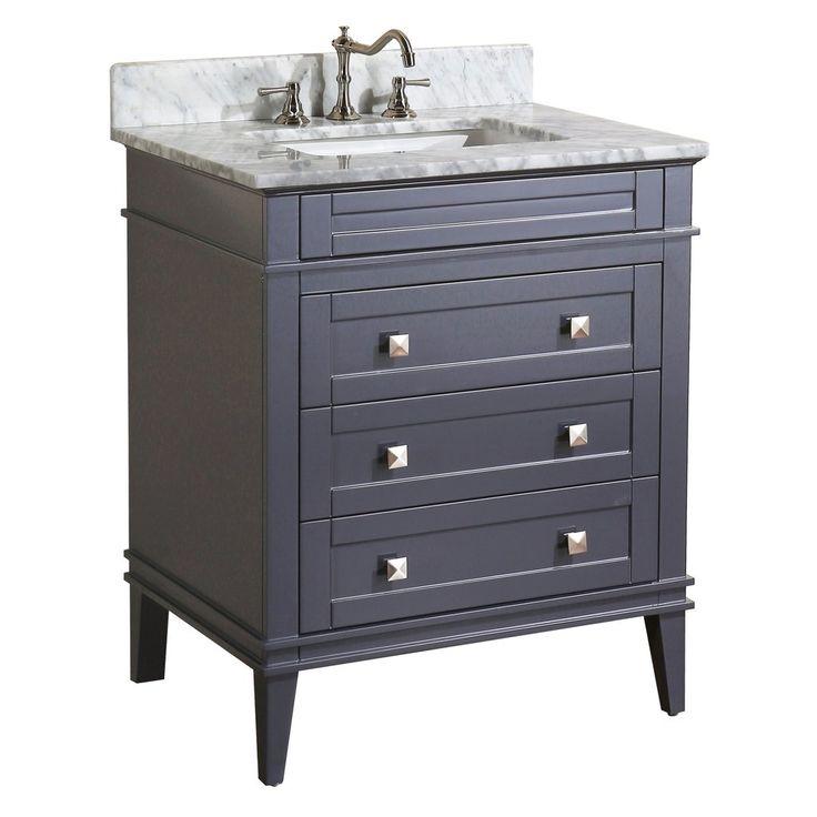 $850 Eleanor 30-inch Vanity (Carrara/Charcoal Gray)