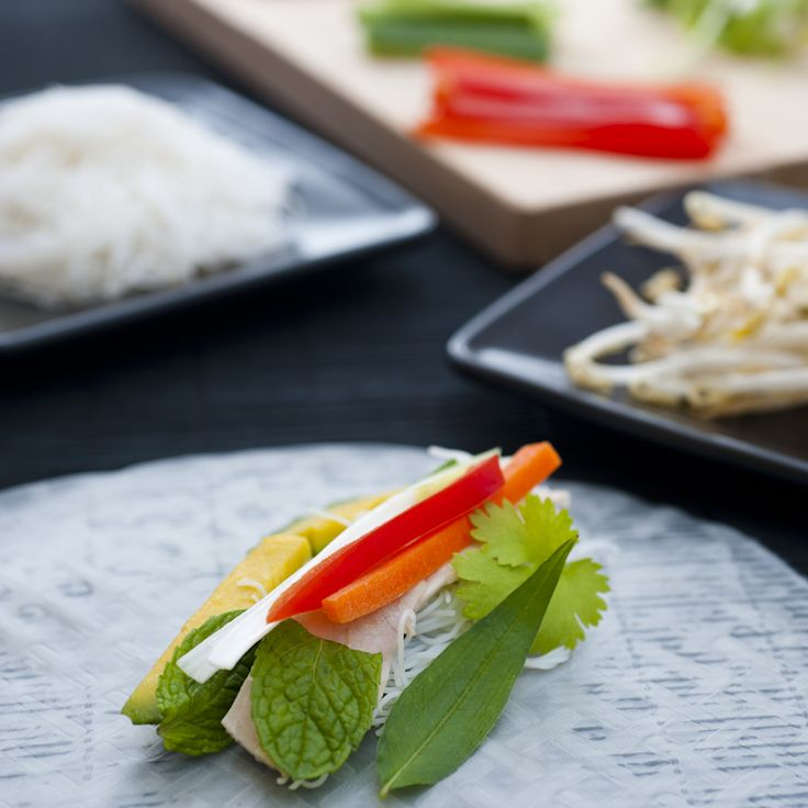 Vietnamese Chicken Rice Paper Rolls