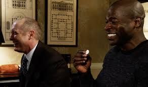 "The Blacklist...James Todd Spader as Raymond ""Red"" Reddington and Hisham Tawfiq as Dembe."