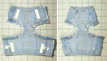 デニムフリンジ水着(ボトム) 「パプペポ」着せ替え人形の手作り服の作り方