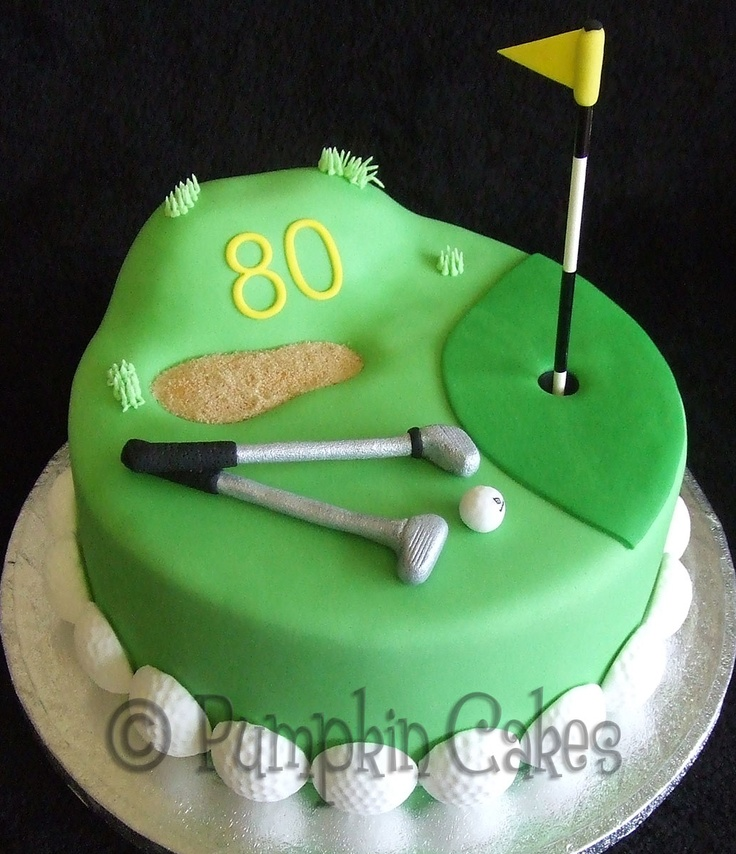 Anyone for a round of golf? Madeira cake with all edible decoration and sandpit made from sugar