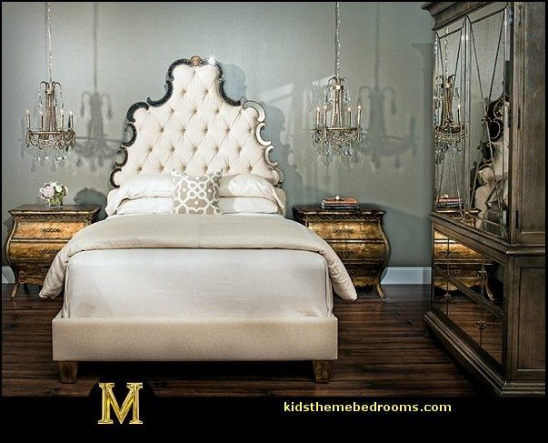 Love glam headboard my hollywood glam pinterest for Old world style beds