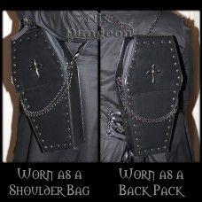 Gothic Punk Coffin Bag. www.nixdungeon.co.nz