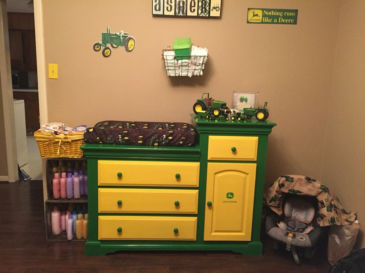 John Deere changing table/dresser