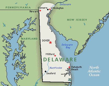 "Delaware--kind of like the ""drive thru"" state...on the way to anything south of NJ."