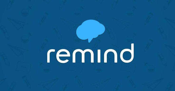 Remind es una vía de contacto segura y sencilla para profesores, alumnos y padres. Tanto profesores como administradores escolares pueden enviar de forma directa (vía SMS) a los móviles de padres y alumnos información como deberes, fechas de entrega y exámenes, evaluaciones, recordatorios, de forma general o  personal remind app