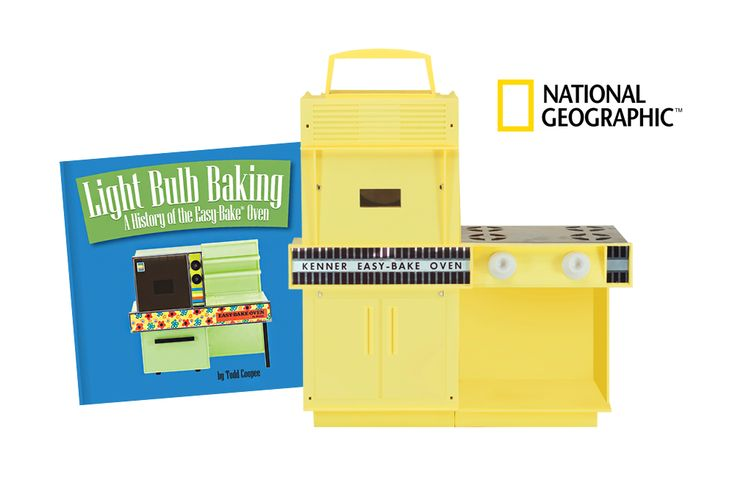 """National Geographic calls Light Bulb Baking: A History of the Easy-Bake Oven """"…a catchy and comprehensive history of the Easy-Bake…"""" in their article titled How Easy-Bake Ovens Taught Us to Cook. #easybakeove #lightbulbbaking"""