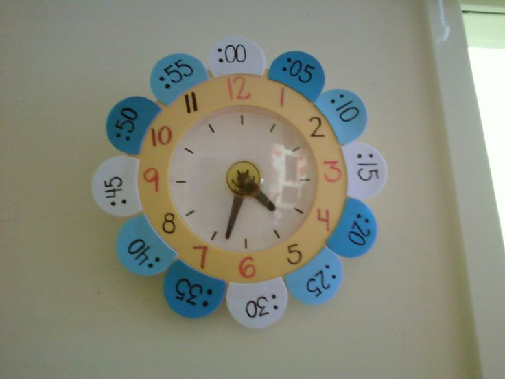 Another pinner said: Great Idea for teaching telling time.  I found it on Ikea Hackers
