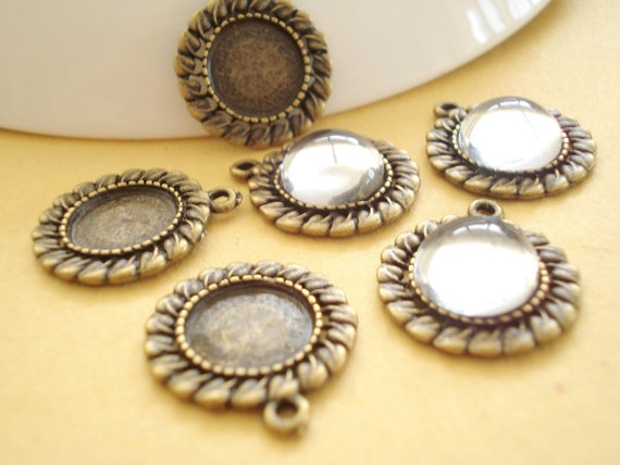 Collection NO157 FOR 10pcs Cameo Base with 12mm by yooounique, $5.99