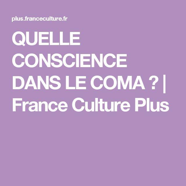 QUELLE CONSCIENCE DANS LE COMA ? | France Culture Plus