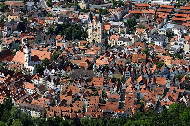 A view from above Weiden in der Oberpfalz by Tobias Neubert Photography, via Flickr