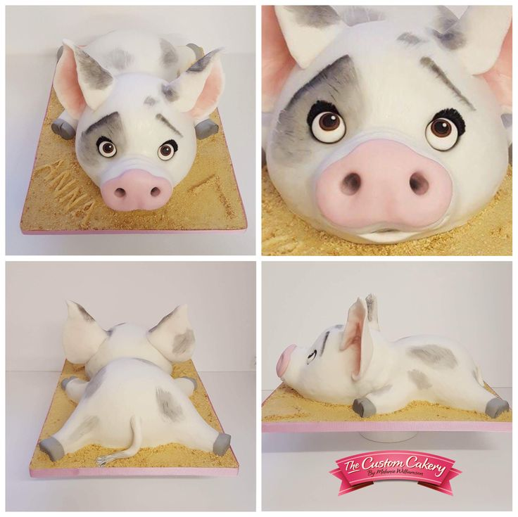 Pua from Moana - Carved Cake By www.facebook.com/doncastercustomcakery