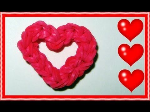 """EASY Rainbow Loom Charms: """"Open Your Heart"""" (Mother's Day, Fun Loom, Gomitas)"""