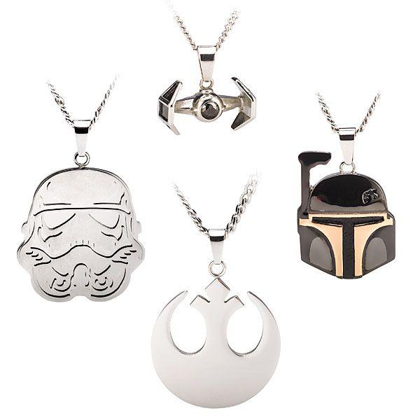Star Wars Stainless Steel Pendants - Just in time for Christmas. // BOBA FETT!!!!
