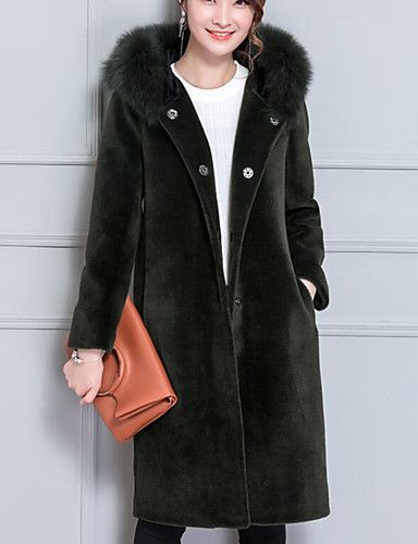 6ed89af007cf4 Women s Work Street chic   Sophisticated Plus Size Pea Coat - Solid Colored    Sexy